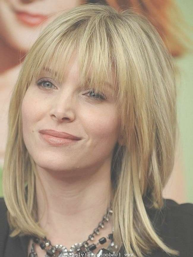 Photo Gallery Of Long Bob Haircuts With Bangs And Layers Showing 15
