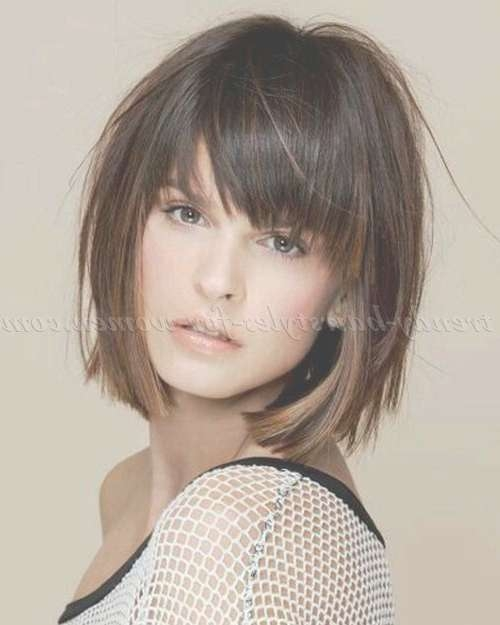 Best 25+ Layered Bob With Bangs Ideas On Pinterest | Hair Cuts For With Regard To Layered Bob Hairstyles With Bangs (View 9 of 15)