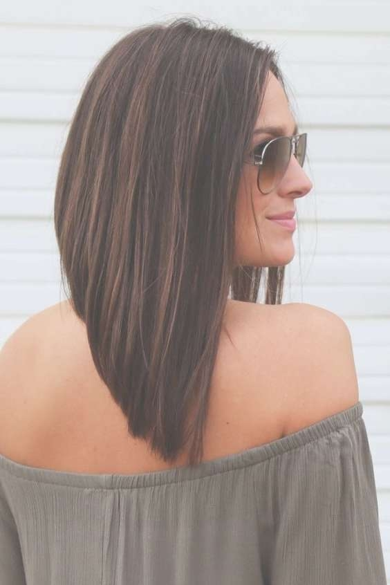 Best 25+ Long Angled Bobs Ideas On Pinterest | Long Angled Haircut Intended For Extra Long Bob Haircuts (View 13 of 15)