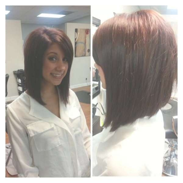 Best 25+ Long Angled Bobs Ideas On Pinterest | Long Angled Haircut Pertaining To Med Length Bob Haircuts (View 11 of 15)