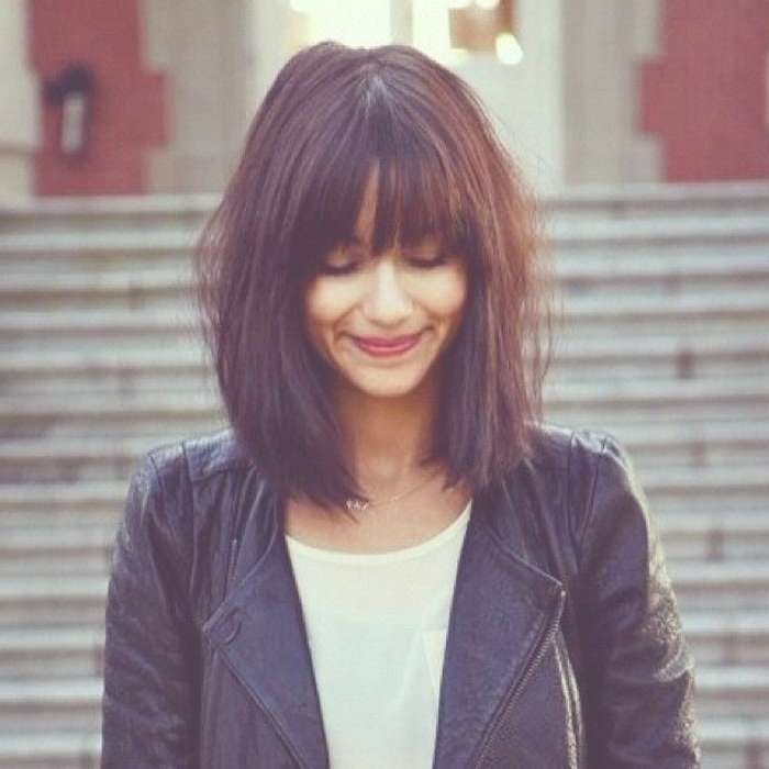 Photos Of Shoulder Length Bob Haircuts With Bangs Showing 6 Of 15