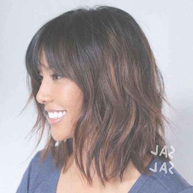 Best 25+ Long Bob Bangs Ideas On Pinterest | Long Bob With Bangs Intended For Long Bob Haircuts With Bangs (View 4 of 15)