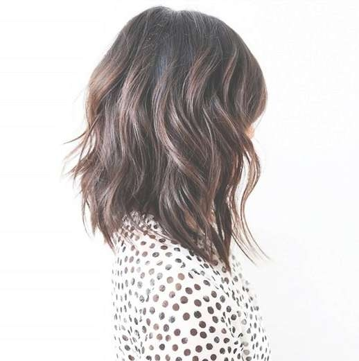 Best 25+ Long Bob Brunette Ideas On Pinterest | Brunette Mid Inside Brunette Long Bob Haircuts (View 5 of 15)