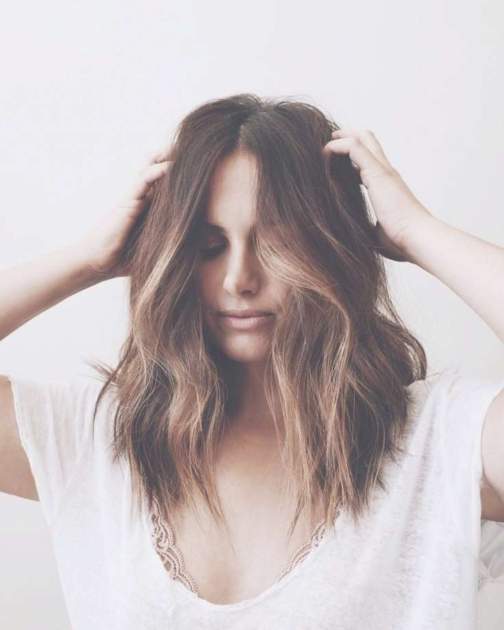 Best 25+ Long Bob Brunette Ideas On Pinterest | Brunette Mid Throughout Brunette Long Bob Haircuts (View 15 of 15)