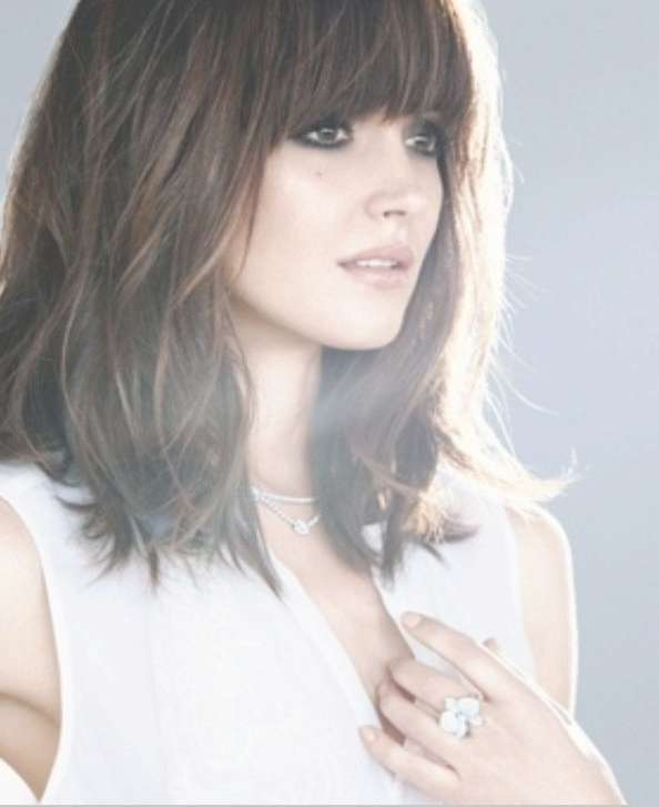 Best 25+ Long Bob With Fringe Ideas On Pinterest | Bob With Fringe Throughout Shoulder Length Bob Haircuts With Bangs (View 9 of 15)