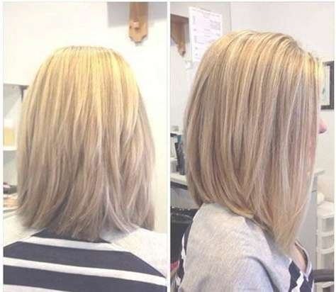 Best 25+ Long Layered Bobs Ideas On Pinterest | Straight Haircuts With Back View Long Bob Haircuts (View 3 of 15)