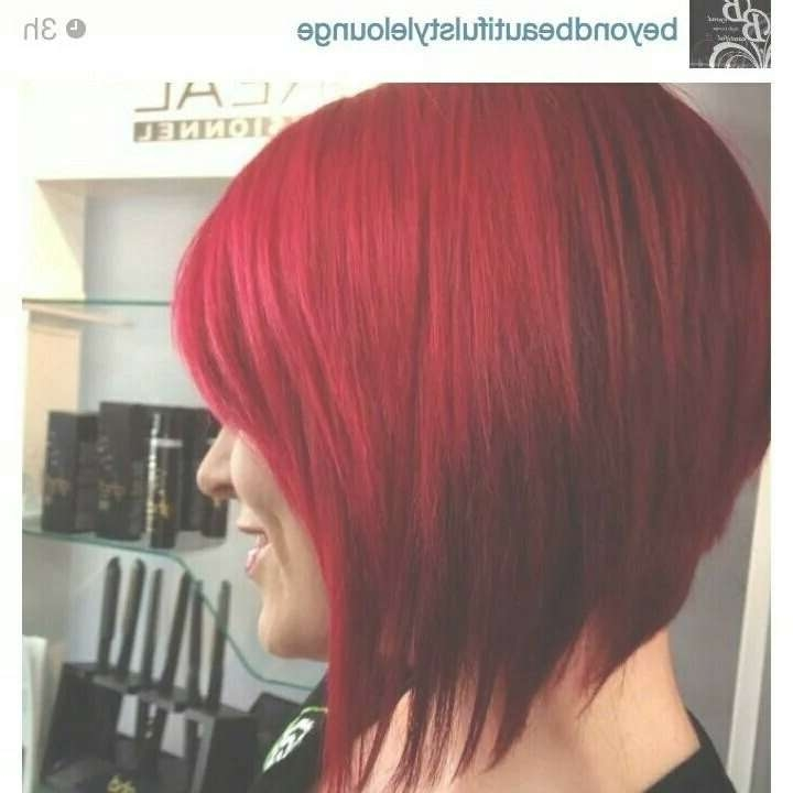 Best 25+ Red Bob Hair Ideas On Pinterest | Red Long Bob, Red Bob For Bob Hairstyles And Colors (View 10 of 15)