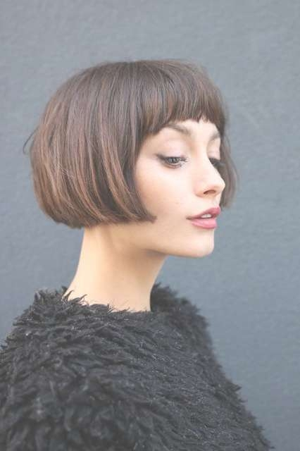 Best 25+ Short Bob Bangs Ideas On Pinterest | Short Bob With In Very Short Bob Hairstyles With Bangs (View 2 of 15)