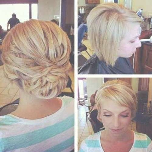 Best 25+ Short Bob Updo Ideas On Pinterest   Bob Updo Hairstyles In Wedding Updos For Bob Haircuts (View 5 of 15)