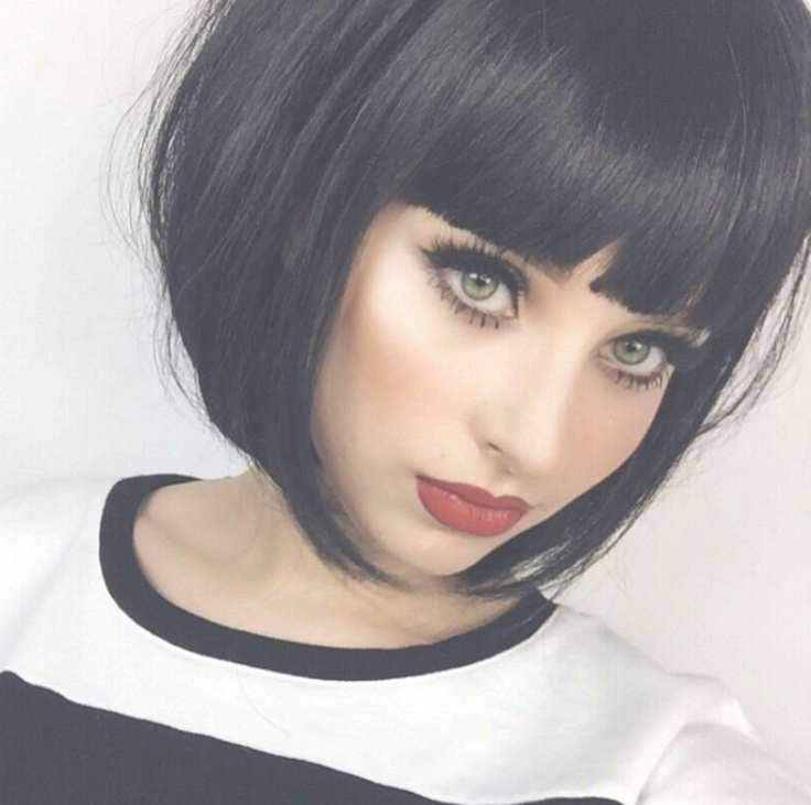 Best 25+ Short Bob With Fringe Ideas On Pinterest | Short Bob Throughout Black Bob Haircuts With Bangs (View 4 of 15)