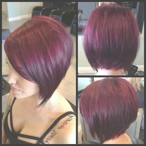 Best 25+ Short Burgundy Hair Ideas On Pinterest | Plum Hair, Red Within Burgundy Bob Hairstyles (View 9 of 15)