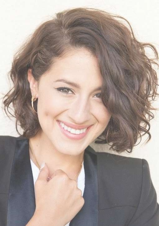 Best 25+ Short Curly Hairstyles Ideas On Pinterest | Hairstyles Pertaining To Bob Hairstyles For Round Faces And Curly Hair (View 10 of 15)