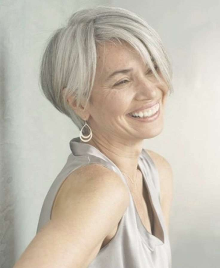 Best 25+ Short Gray Hair Ideas On Pinterest | Short Hairstyles With Gray Bob Haircuts (View 3 of 15)