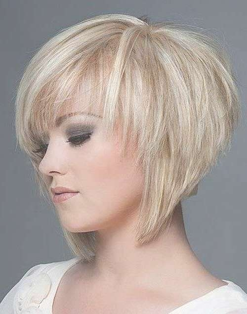 Best 25+ Short Layered Bob Haircuts Ideas On Pinterest | Layered With Regard To Short Bob Hairstyles With Bangs And Layers (View 7 of 15)