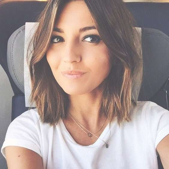 Best 25+ Shoulder Length Bobs Ideas On Pinterest | Shoulder Length Pertaining To Cute Shoulder Length Bob Hairstyles (View 11 of 15)