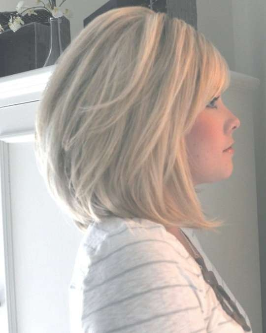 Best 25+ Shoulder Length Bobs Ideas On Pinterest | Shoulder Length Throughout Med Length Bob Haircuts (View 3 of 15)