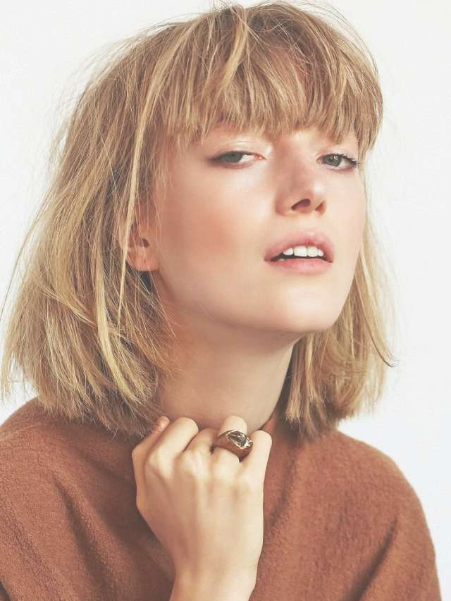 Best 25+ Thick Hair Bangs Ideas On Pinterest | Thick Bangs, Bangs For Bob Haircuts For Thick Hair With Bangs (View 5 of 15)