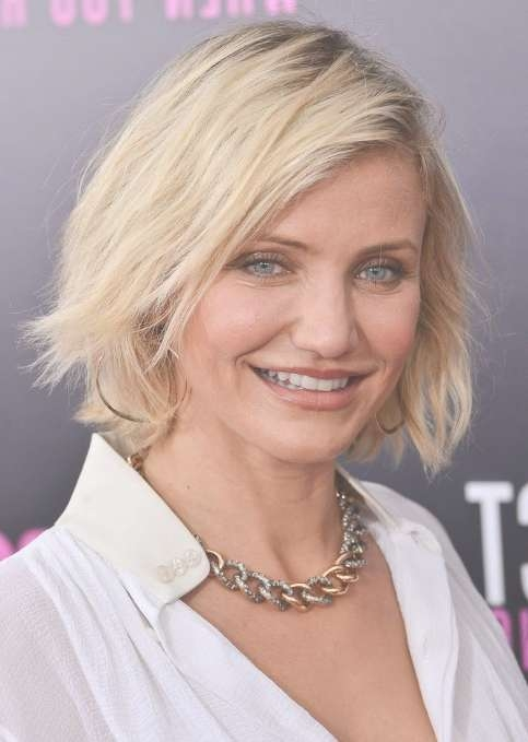 Best Short Bob Hairstyles For Women Over 40 – Cameron Diaz Short With Regard To Short Bob Haircuts For Women Over (View 4 of 15)