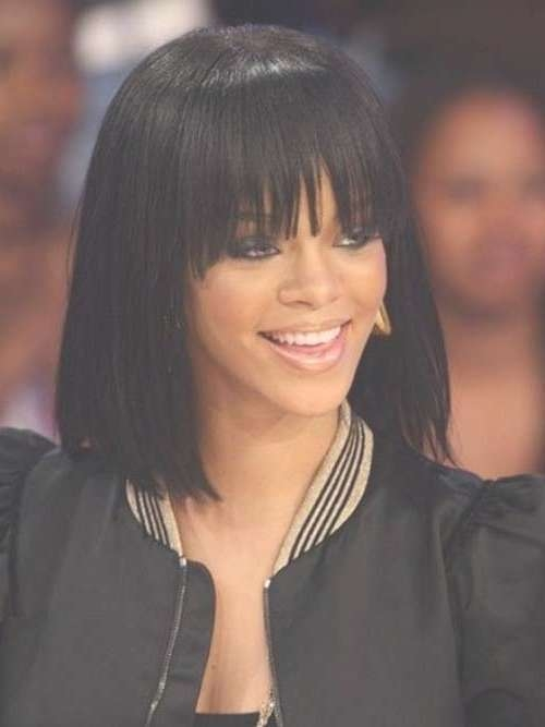 Black Women With Bob Hairstyles   Bob Hairstyles 2017 – Short Pertaining To Bob Hairstyles With Bangs For Black Women (View 3 of 15)