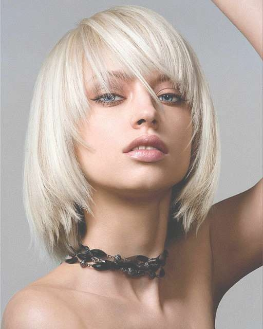 Blonde Bob Hairstyles With A Fringe – Hair World Magazine Inside Blonde Bob Haircuts With Bangs (View 8 of 15)