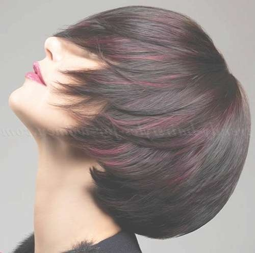Bob Haircut – Brown Bob Hairstyle With Red Highlights   Trendy With Regard To Bob Haircuts With Red Highlights (View 7 of 15)