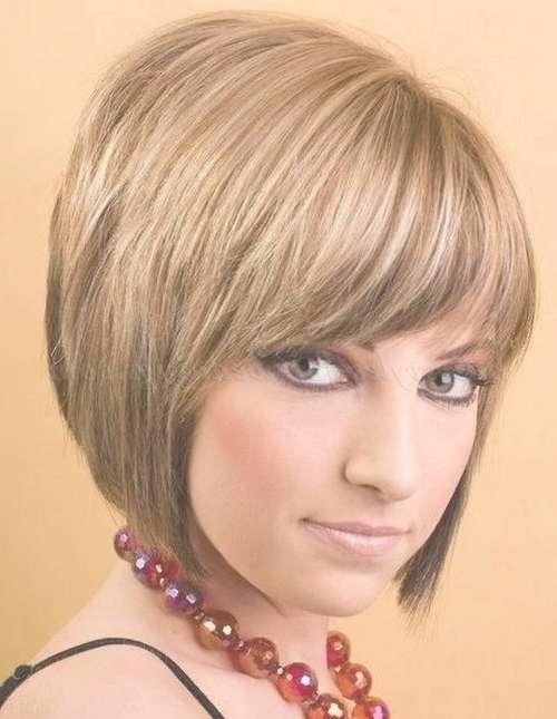 Bob Haircut – Layered Bob Haircut With Fringe | Trendy Hairstyles For Bob Hairstyles With Fringes (View 8 of 15)