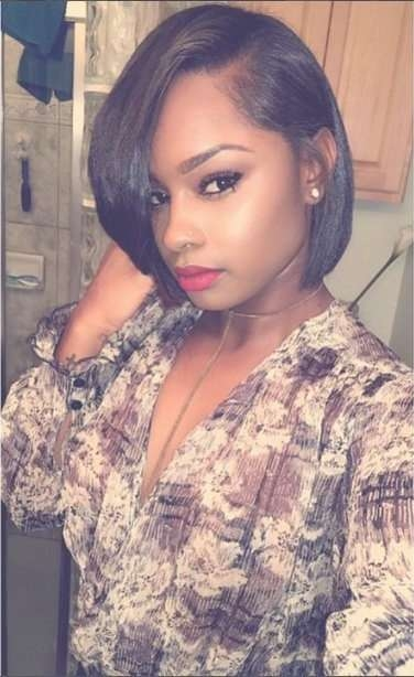 Bob Haircuts For African American Women | Hair | Pinterest Inside Bob Haircuts For African American (View 3 of 15)
