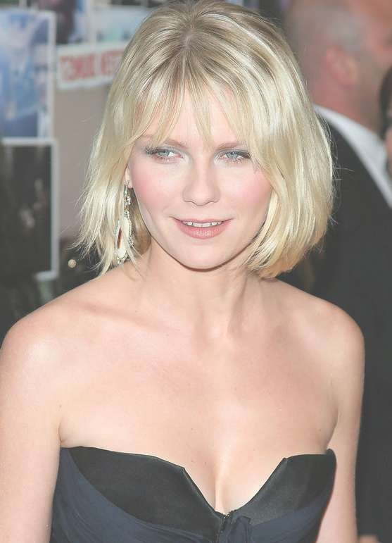 Bob Hairstyle For Women: Simple Blonde Bob With Fringe – Kirsten Within Blonde Bob Haircuts With Bangs (View 15 of 15)