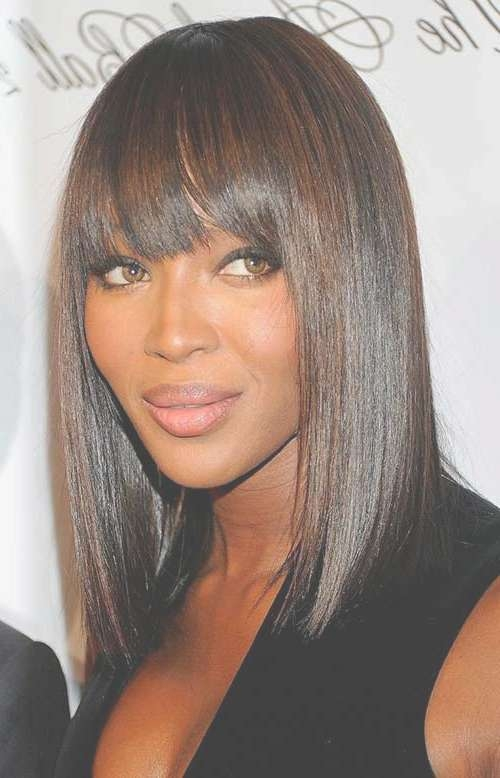 Bob Hairstyles For Black Women 2014 – 2015 | Bob Hairstyles 2017 With Regard To Bob Hairstyles With Bangs For Black Women (View 7 of 15)
