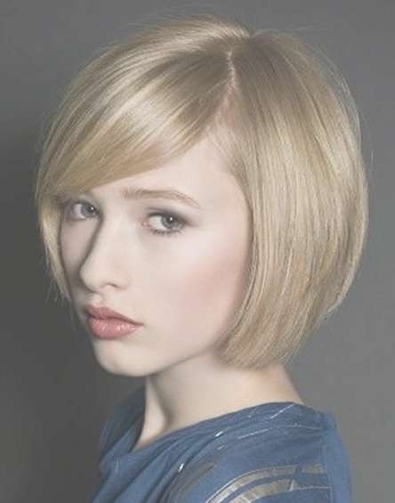 Chic Bob Haircut With Side Swept Bangs – Latest Short Hairstyle Intended For Cute Bob Hairstyles With Bangs (View 10 of 15)