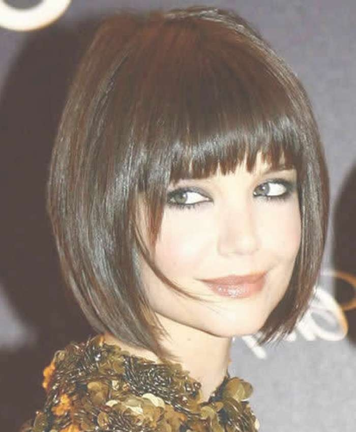 Photo Gallery Of Bob Haircuts With Bangs For Round Faces Showing 4