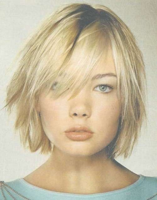 Photo Gallery Of Bob Haircuts For Thick Hair With Bangs Showing 4