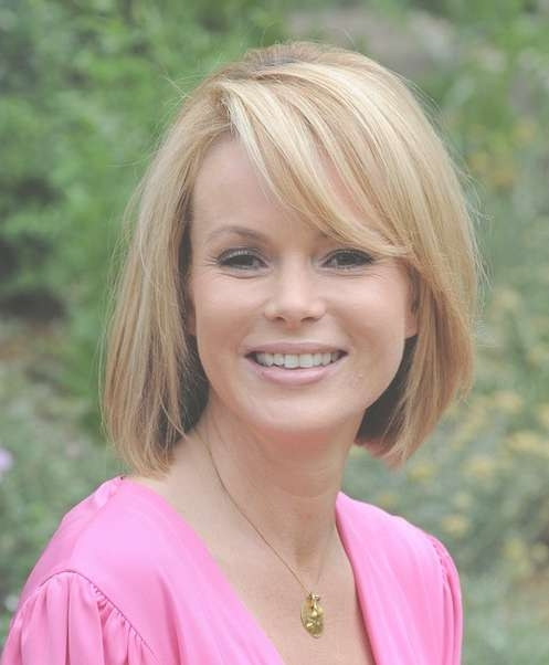 Cute Classic Bob Haircut With Long Bangs For Spring – Amanda With Regard To Bob Haircuts With Long Bangs (View 12 of 15)