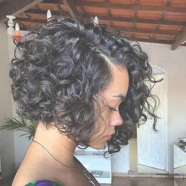 Explore Gallery of Stacked Bob Haircuts For Curly Hair (Showing 2 of ...
