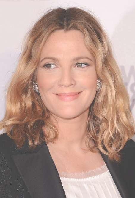 Drew Barrymore Medium Length Hairstyle: Tousled Wavy Bob Hair With Drew Barrymore Bob Hairstyles (View 12 of 15)