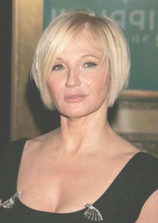 Ellen Barkin Short Bob Hairstyles For Women Over 50 – Pretty Designs Inside Bob Hairstyles Women Over (View 14 of 15)