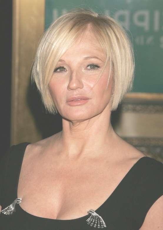 Ellen Barkin Short Bob Hairstyles For Women Over 50 – Pretty Designs Inside Bob Hairstyles Women Over  (View 9 of 15)