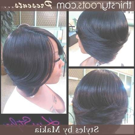 Feathered Layered Bob Hairstyle Thirstyroots Black Hairstyles Pertaining To Layered Bob Haircuts For Black Hair (View 7 of 15)