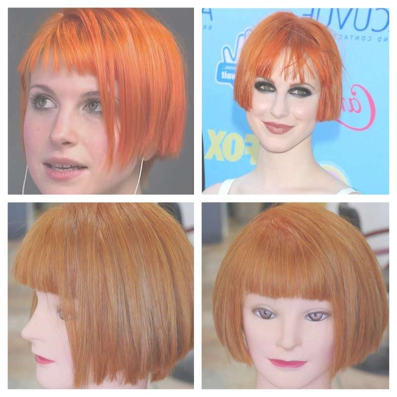 Hayley Williams Haircolor & Haircut Tutorial – Youtube With Regard To Hayley Williams Bob Haircuts (View 3 of 15)