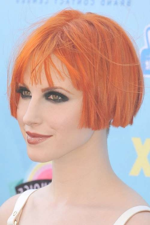 Hayley Williams Hairstyles & Hair Colors | Steal Her Style Throughout Hayley Williams Bob Haircuts (View 1 of 15)