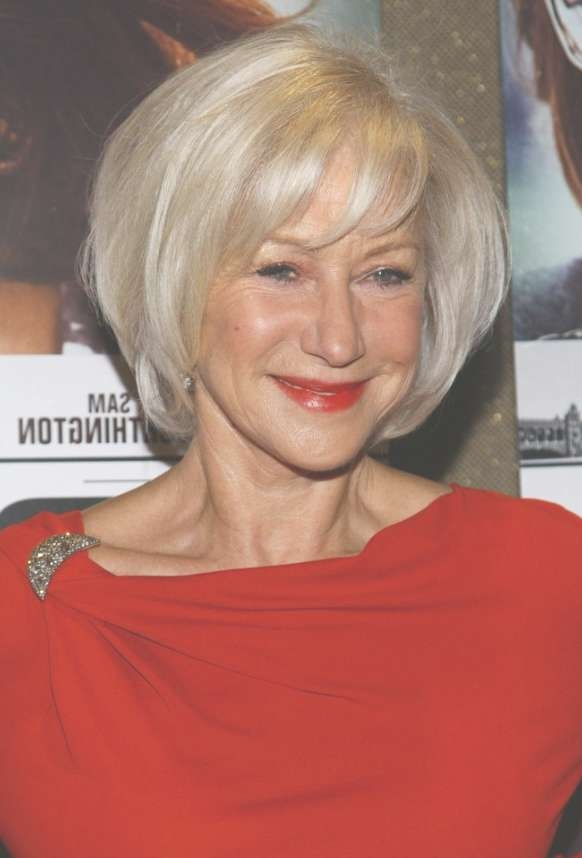 Helen Mirren Short Bob Hairstyle For Women Over 60S – Hairstyles Pertaining To Bob Haircuts For Older Ladies (View 6 of 15)