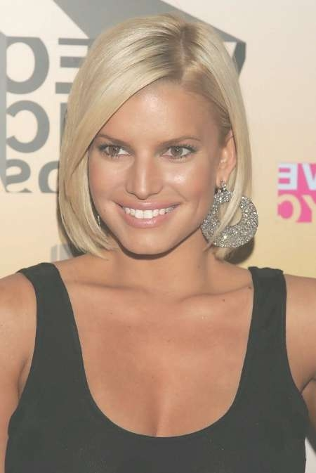 Jessica Simpson Short Bob Hairstyle - Hairstyles Weekly intended for Jessica Simpson Bob Haircuts