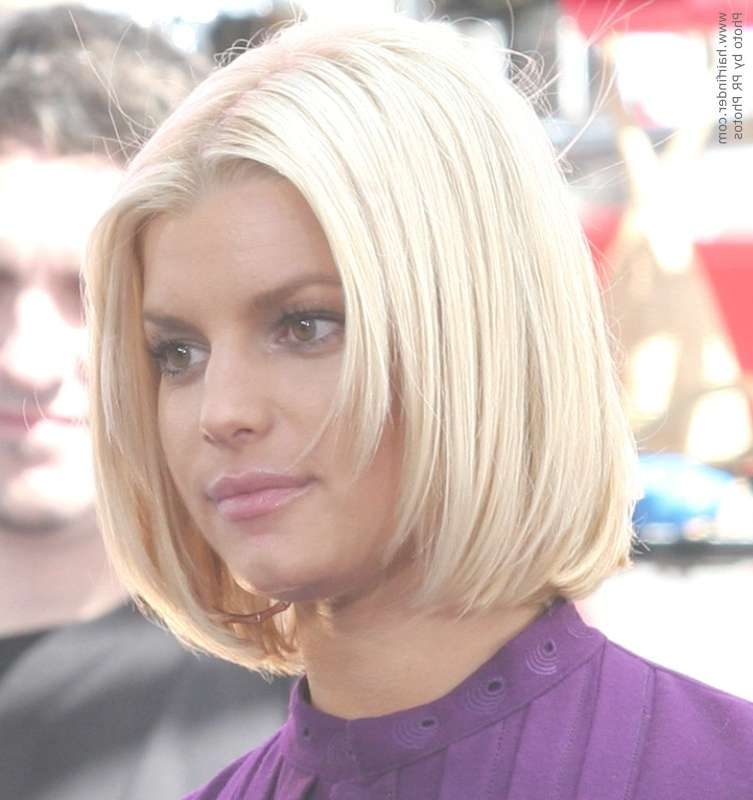 Jessica Simpson With Her Hair Chopped Short In A Bob intended for Jessica Simpson Bob Haircuts