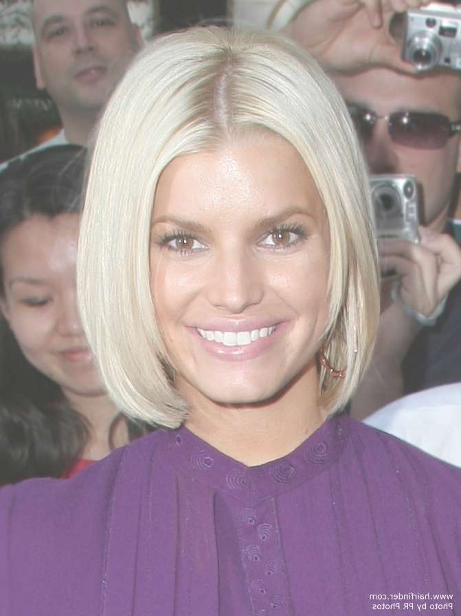Jessica Simpson With Her Hair Cut Into A Short Bob pertaining to Jessica Simpson Bob Haircuts