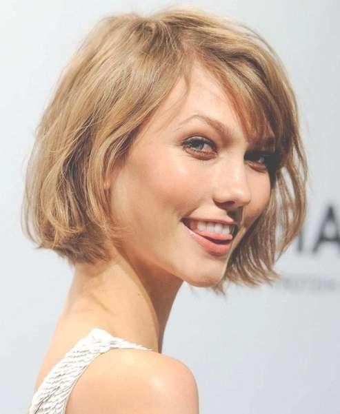 Karlie Kloss' Short Hairstyles: Bob Haircut For Short Hair Inside Karlie Kloss Bob Hairstyles (View 9 of 15)