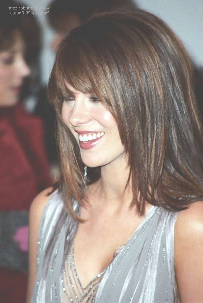 Kate Beckinsale Wearing Her Hair Long With Angled Sides Inside Kate Beckinsale Bob Haircuts (View 2 of 15)
