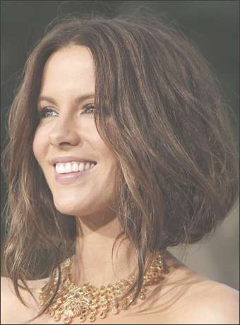 Kate Beckinsale's Elegant Low Updo Hairstyle Intended For Kate Beckinsale Bob Haircuts (View 5 of 15)