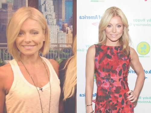 Kelly Ripa Gets A Bob Hairstyle Within Kelly Ripa Bob Hairstyles (View 13 of 15)
