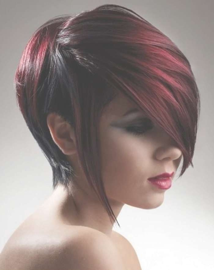 Latest Emo Girl Hairstyle Trends & Fashion Looks 2018 2019 Regarding Emo Bob Haircuts (View 14 of 15)