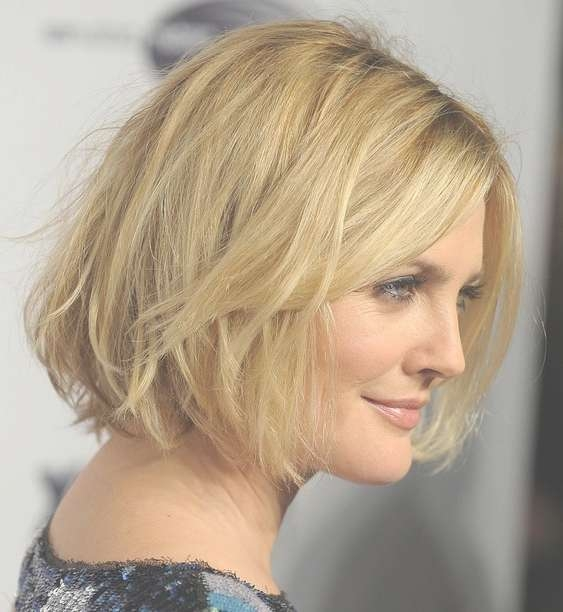 Latest Hairstyles: Chic Short Messy Wavy Bob Haircut For Women Within Drew Barrymore Bob Hairstyles (View 8 of 15)